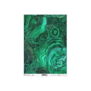 """Ριζόχαρτο """"gemstones green"""" A4"""