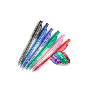 STABILO 308 Στυλό με κουμπί και λάστιχο μπροστά, για σταθερό και άνετο γράψιμο.
